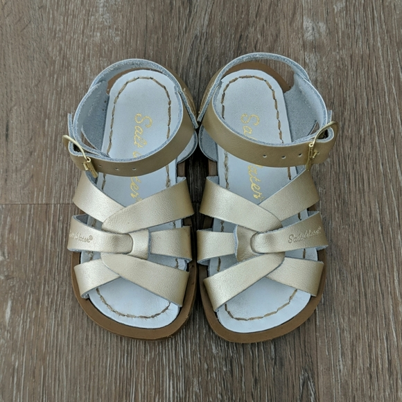 NEW INFANT TODDLER SALTWATER SANDAL 820 GOLD SUN-SAN BY HOY SHOES